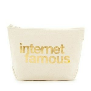 🆕DOGEARED Internet Famous Canvas Zip Pouch Bag